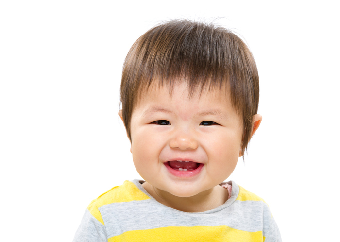 Portrait of Asian toddler